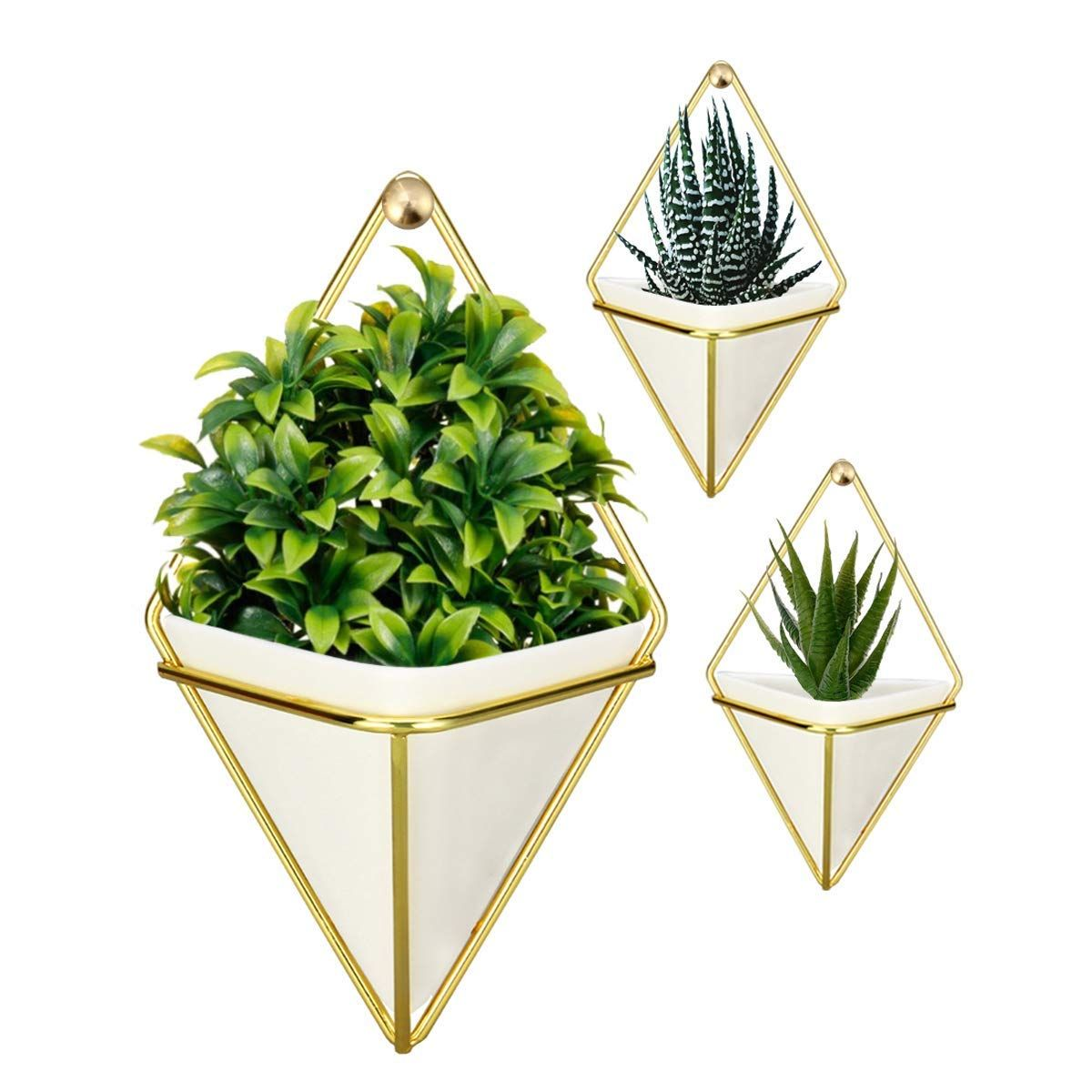 Geometric Plant Hanging Basket Succulents Vase Office Indoor Retro Flower Pot