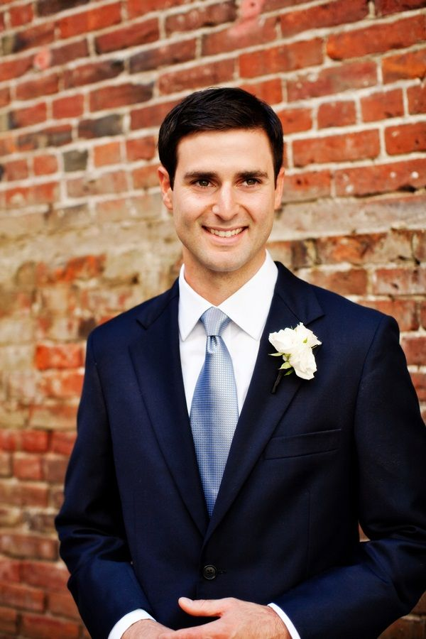 9b55fa9ca23e Navy Blue Grooms Suit With Light Blue Tie | photography by http://www