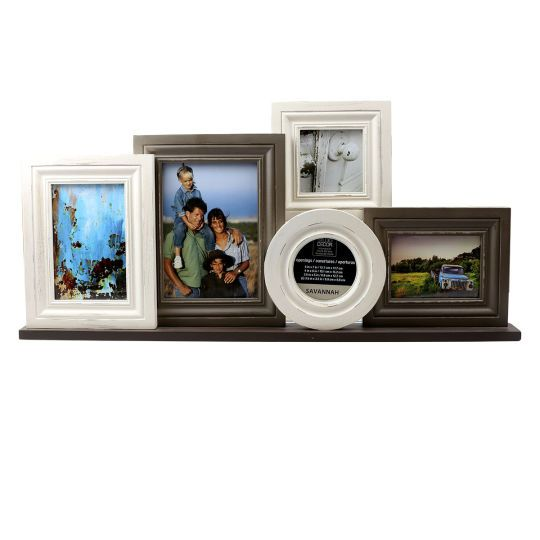 display five of your favorite photos in this vintage looking collage frame