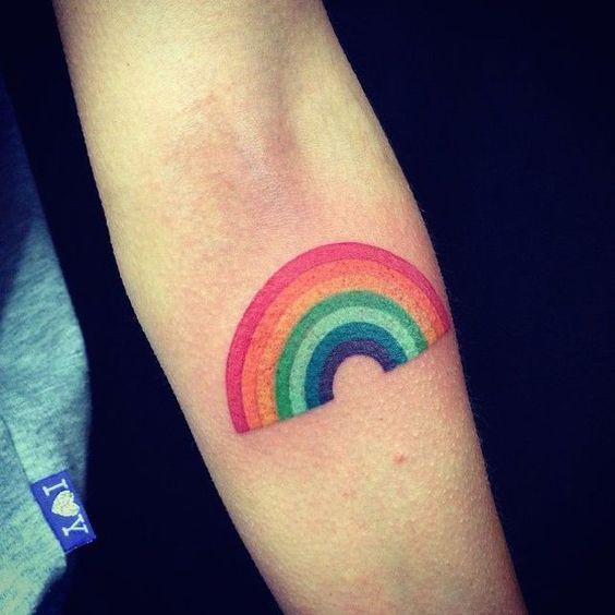 Tatuajes De Arcoiris Pequeños 10 Tattoos Tatuajes De