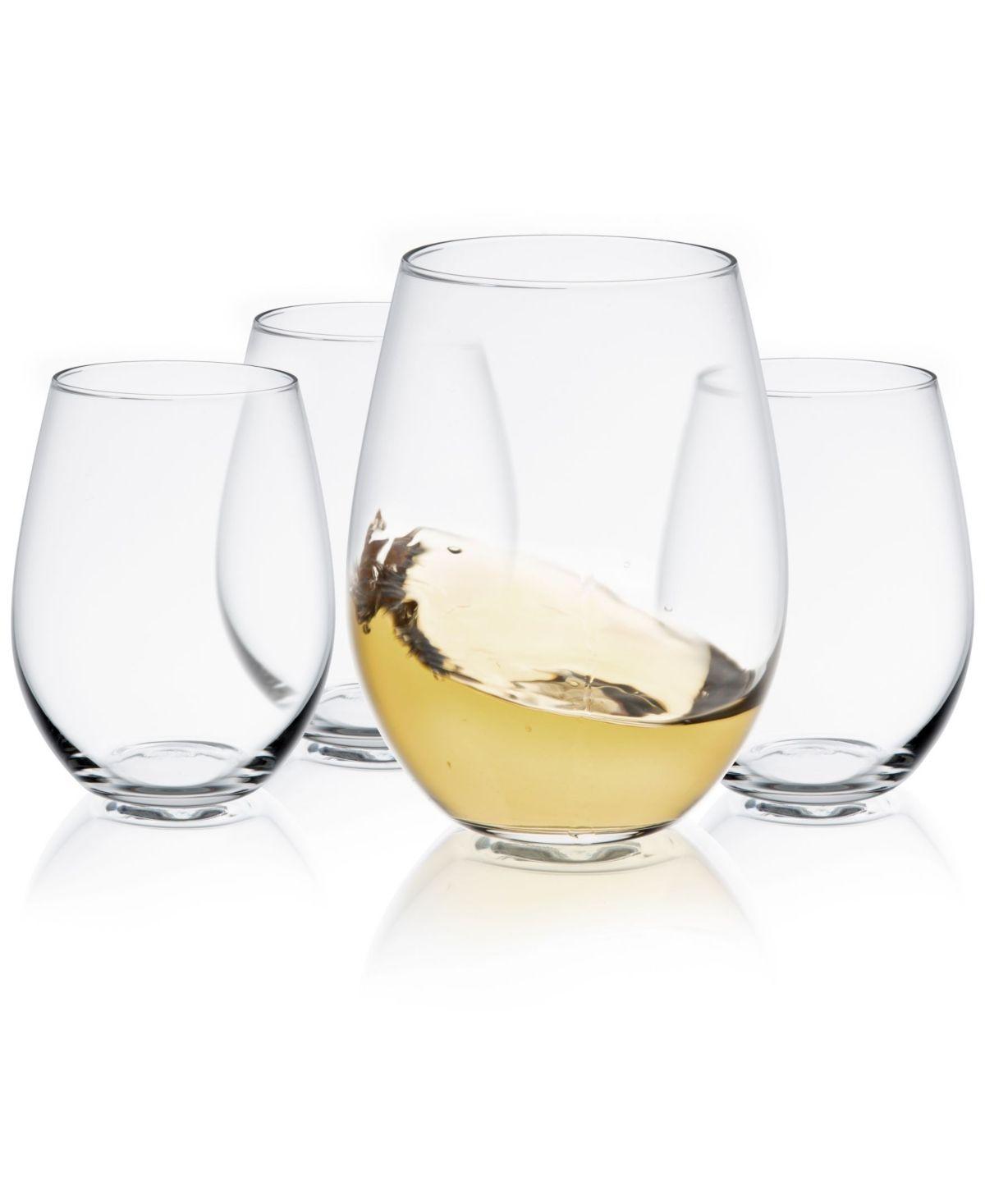 Joyjolt Spirits Stemless Wine Glass Set Of 4 Reviews Glassware