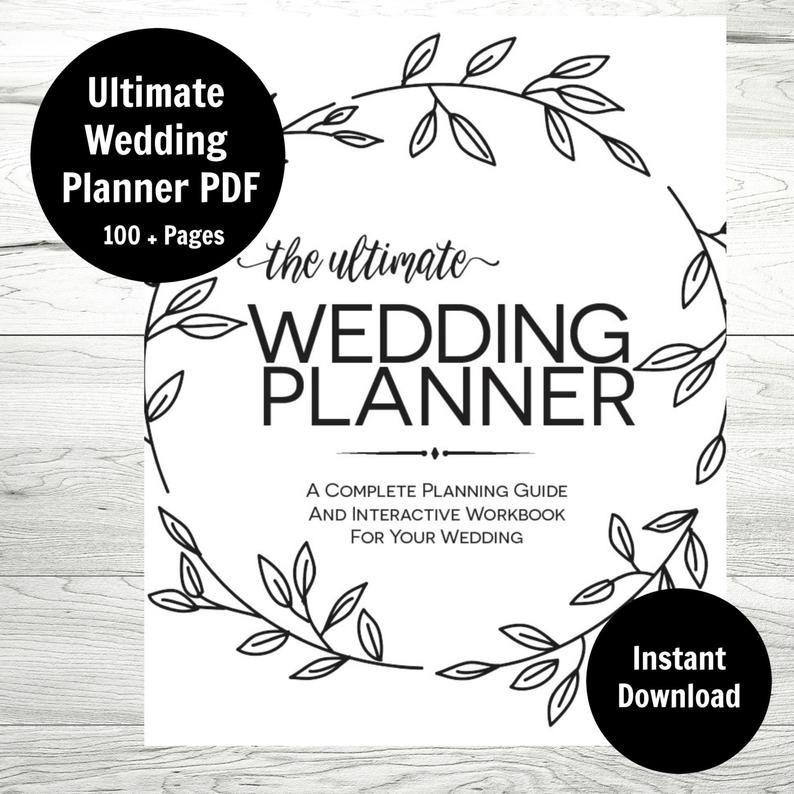 Wedding Planner, Printable Wedding Binder, Wedding