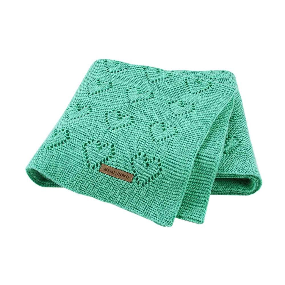 100 Cotton Knitted Newborn Bedding Quilts Newborn Blankets Newborn Bed Cotton Blankets