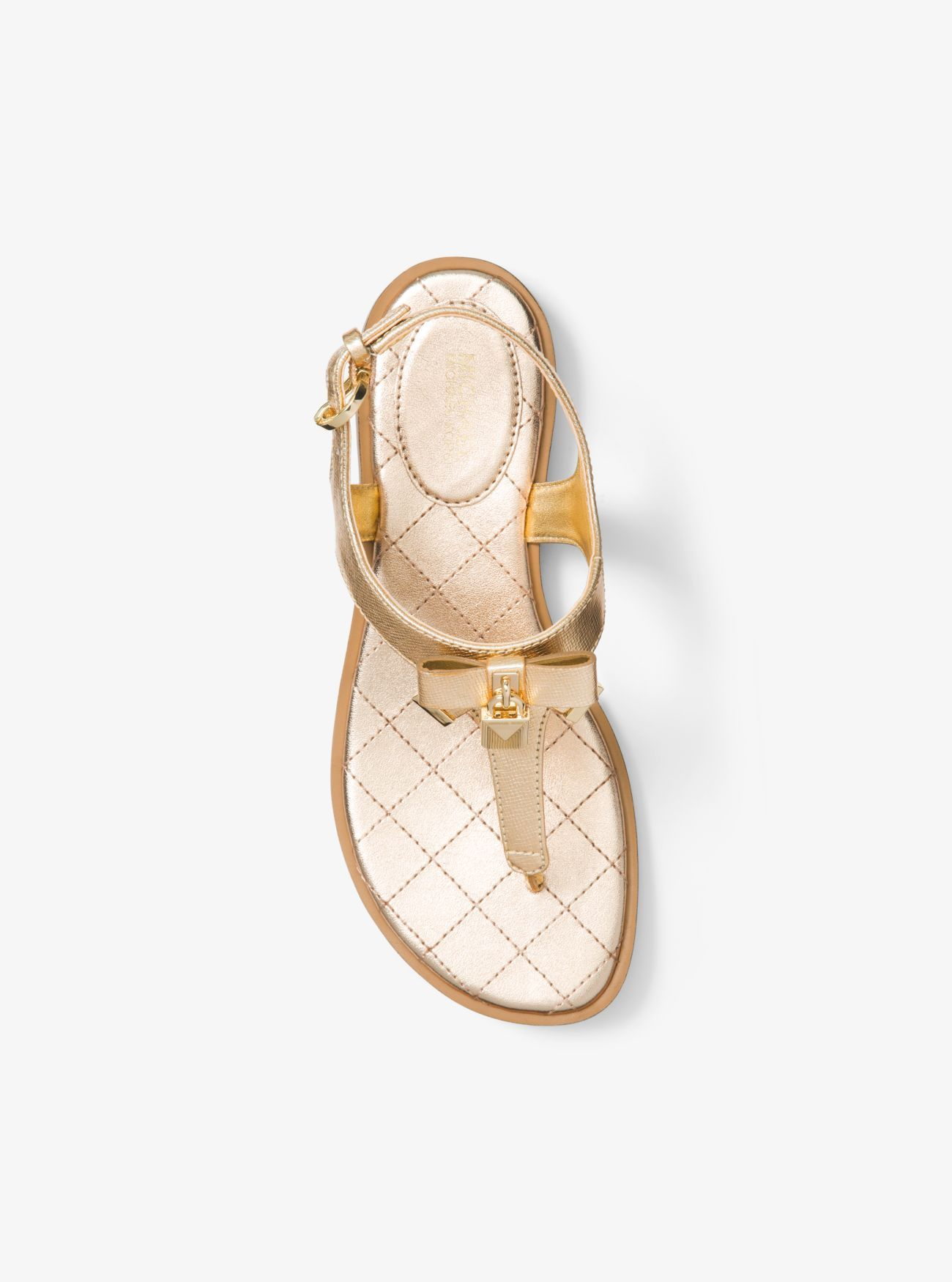 cb24e262f23 MICHAEL Michael Kors Alice Metallic Leather Sandal | Shoes | Leather ...