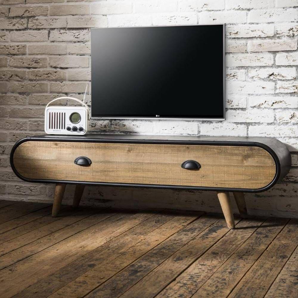 Meuble Tv Acier Bois Industriel California Tv De Mycreationdesign Com Meuble Tv Industriel Mobilier De Salon Meuble Tv Design