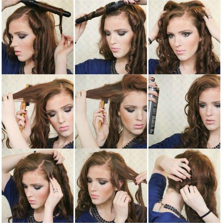 Silvester Frisuren Selber Machen Locken Offen Seitlich Getragen