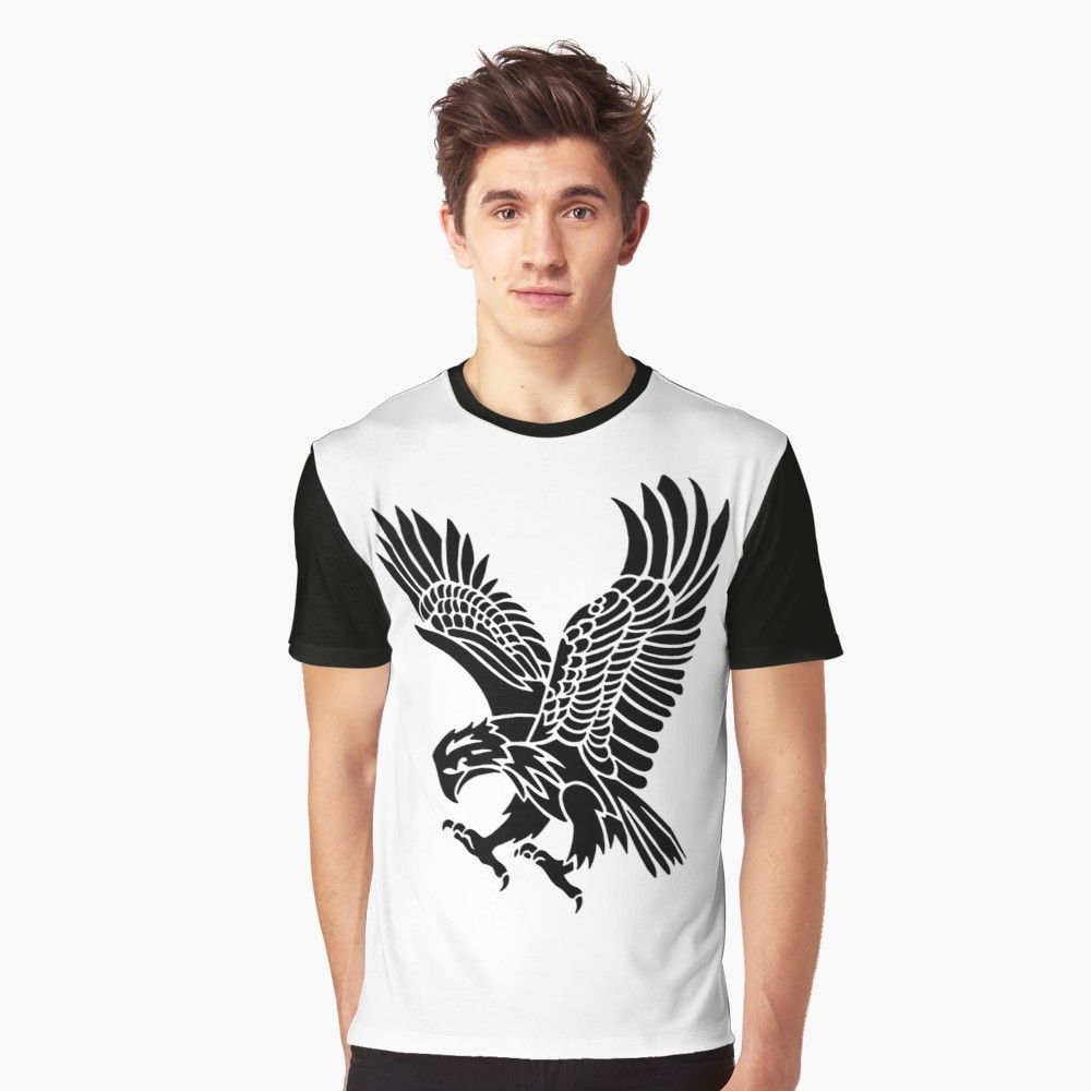 American Eagle Tribal Silhouette Design Style T Shirt By Jshcreates American Shirts Fashion Design Shirt Designs