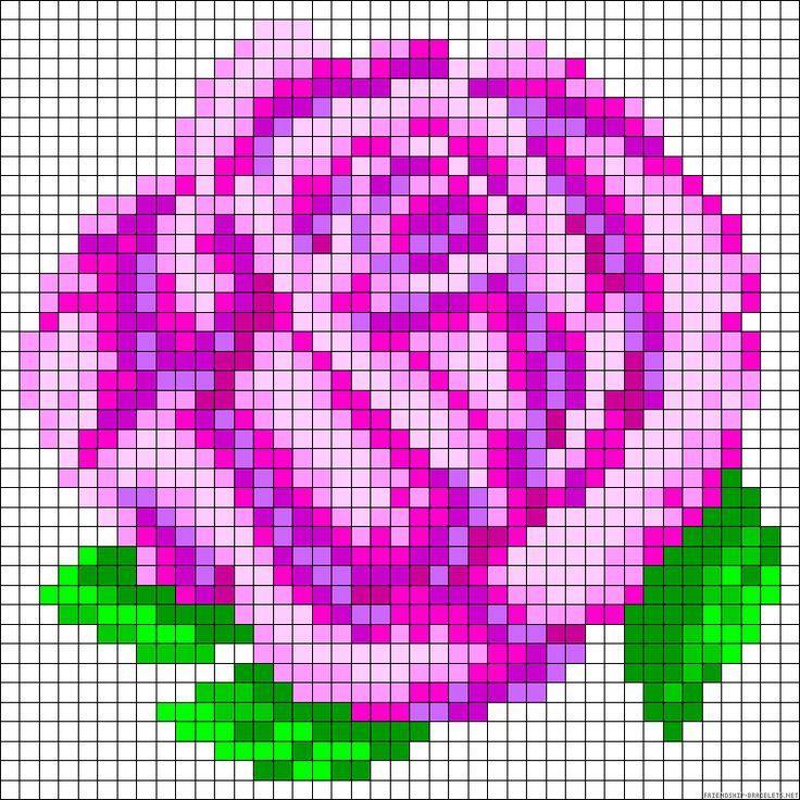 rose perler bead pattern gift idea maybe a magnet geh kelt pinterest b gelperlen. Black Bedroom Furniture Sets. Home Design Ideas