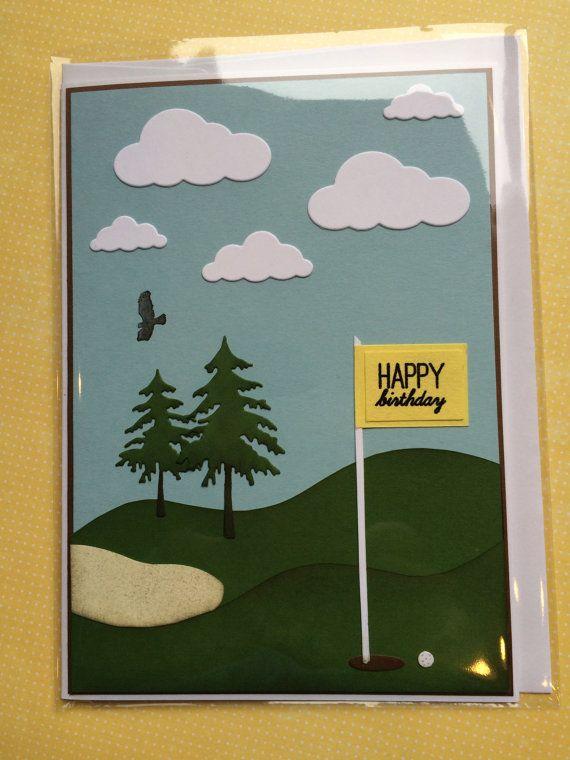 Handmade Golf Themed Birthday Card By SpecialWishesForYou On Etsy Cards Sports Theme
