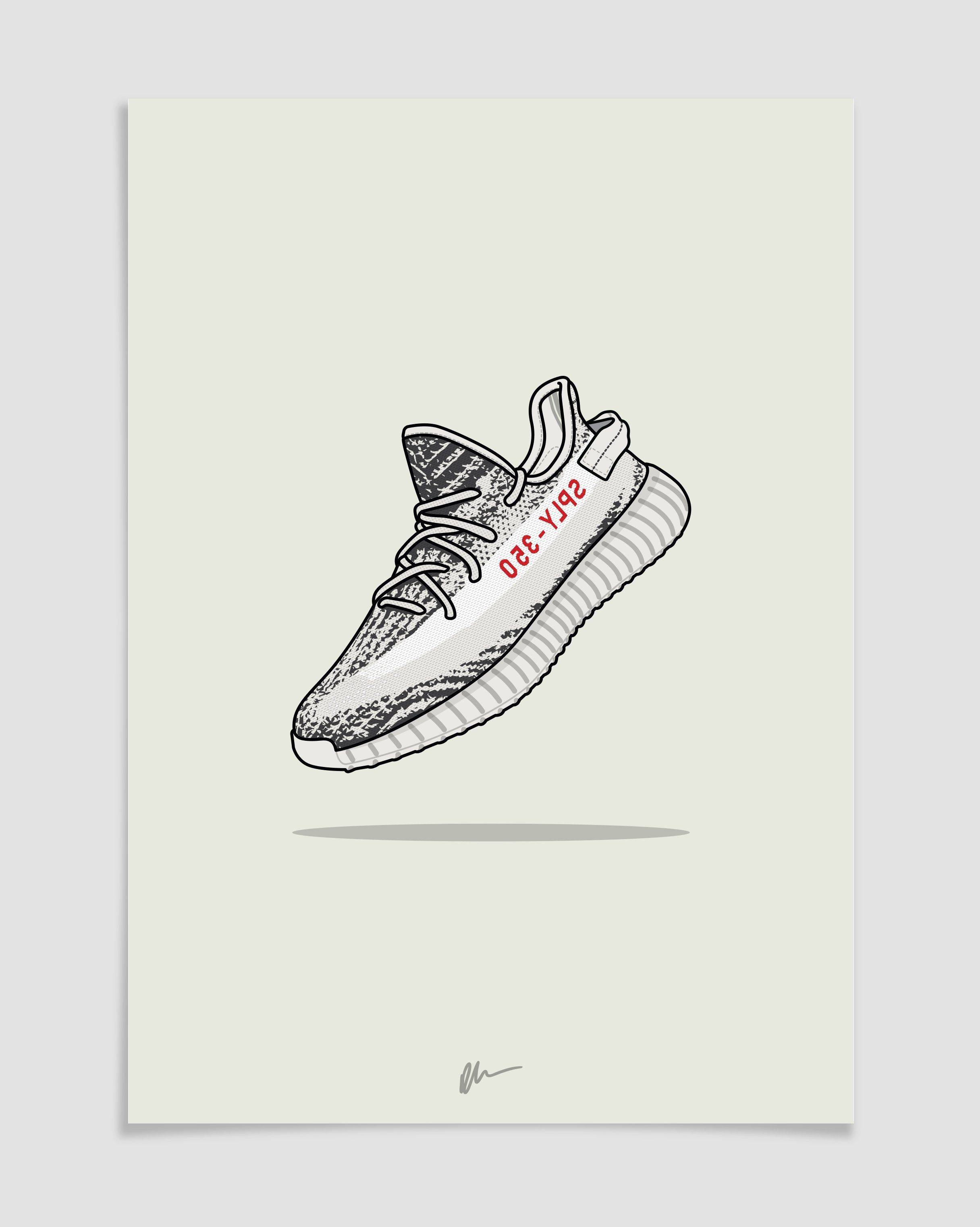 6e01fd3af Originally created Yeezy 350 v2 Zebra CP9654 illustration.The ideal for the  home or office