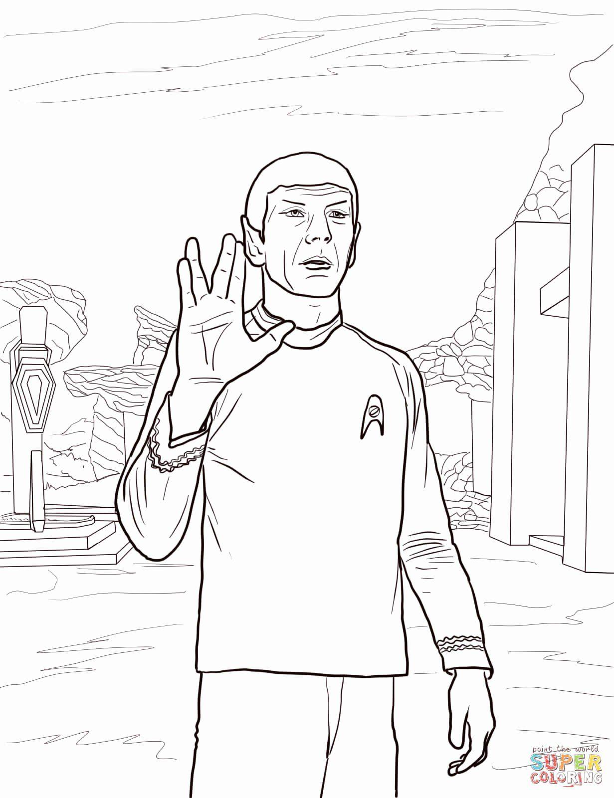 Star Trek Coloring Book New Star Trek Spock Coloring Page In 2020 Star Coloring Pages Star Trek Spock Star Trek