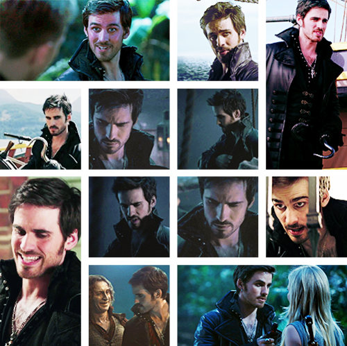 many faces of hook on once upon a time
