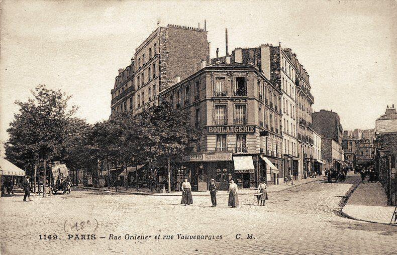 Les Anciennes Rues De Paris Rue Ordener 18 Me Arrondissement Paris Vieux Paris Rue De Paris