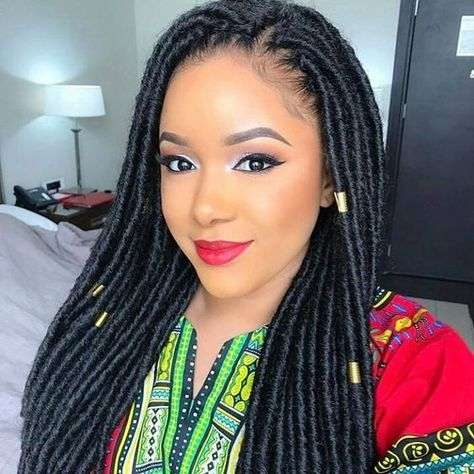Crochet Braids Hairstyles 18Inch Synthetic Dreadlocks Hairstyles Crochet Hair Extensions Faux