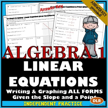 Writing And Graphing Linear Equations In All 3 Forms Point Slope