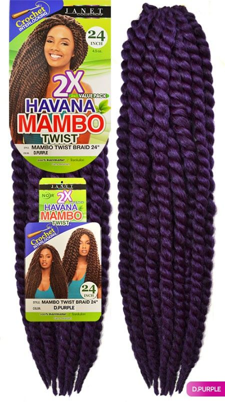 Janet Collection Noir Havana Mambo Twist Braid 24 2 In 1 Pack