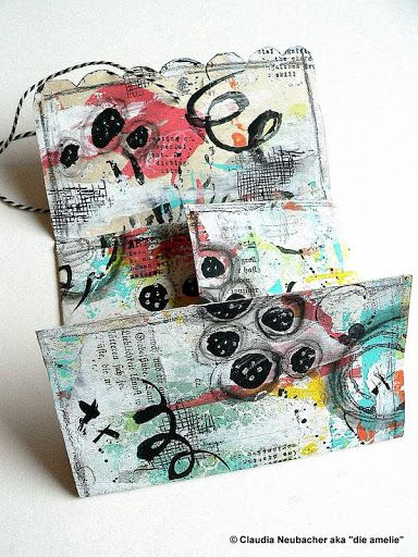 """Von Pappe - """"Envelope Encouragement"""" - what can you do when you know that a dear friend of yours is having a hard time? Send her something bright and colourful to cheer her up of course ;)"""
