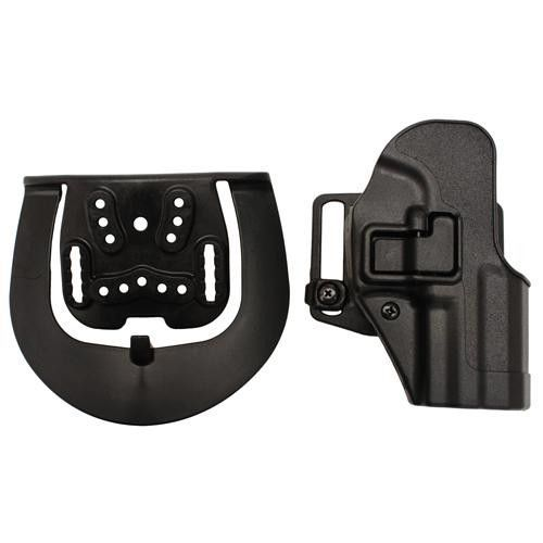 Serpa CQC, Belt & Paddle Holster, Plain Matte Black Finish - H&K USP Compact, Right Hand