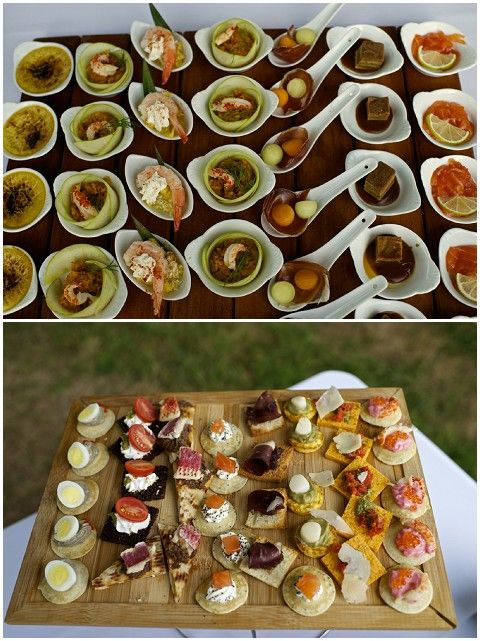 Delicious Amuse Bouche For A Wedding Note To Me Party Pies In The Ceramic Spoons