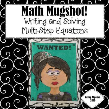 Writing and solving multi-step equations - \