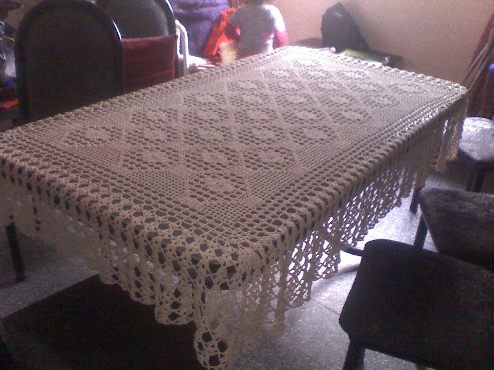 Manteles Grandes C Manteleria Saten Bicolor Color Arena Algodon  -> Tapetes Para Sala Tejidos A Crochet