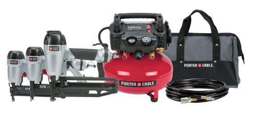 Porter Cable Pc3pak Finish Nailer Brad Nailer Stapler Compressor Combo Kit 279 00 Combo Kit Porter Cable Finish Nailer