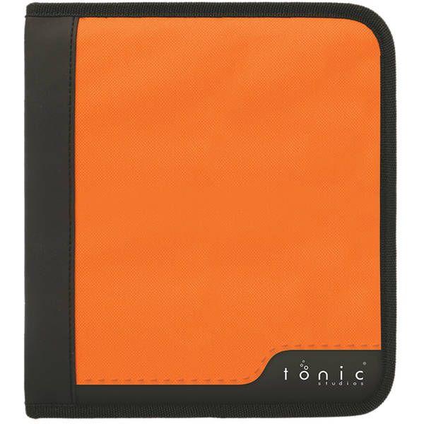 Large Ring Binder Die Case Black & Orange
