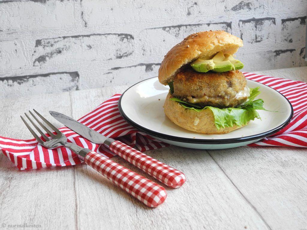 portobello cheeseburger vegetarisch