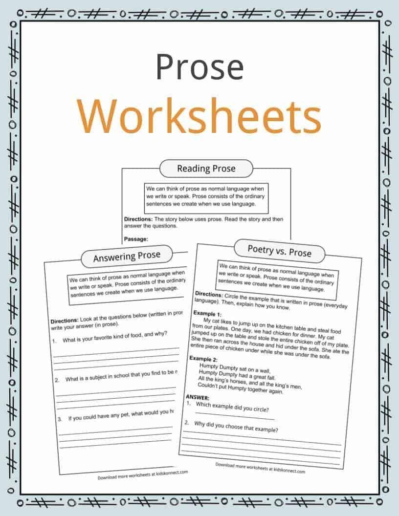 Text Structure 3rd Grade Worksheets In 2020 Poetry Worksheets Prose Reading Comprehension Worksheets