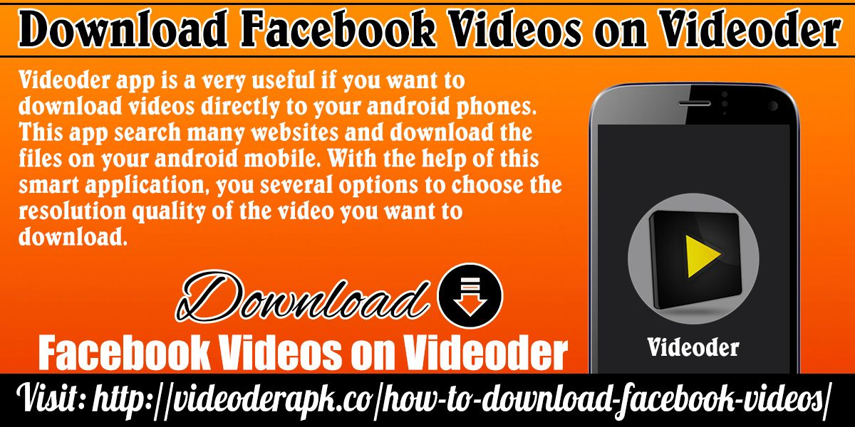 How to Download Facebook videos Facebook video, Android