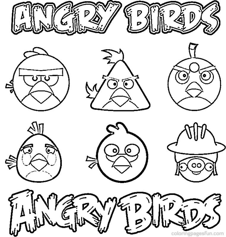 angry birds desenhos colorir - Angry Birds Coloring Page