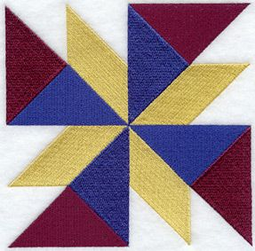 Twisted Star Quilt Block - Sm design (B1402) from www.Emblibrary ... : twisted star quilt block - Adamdwight.com