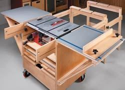 6 diy table saw stations for a small workshop table saw 6 diy table saw stations for a small workshop table saw workstation by shopnotes greentooth Images