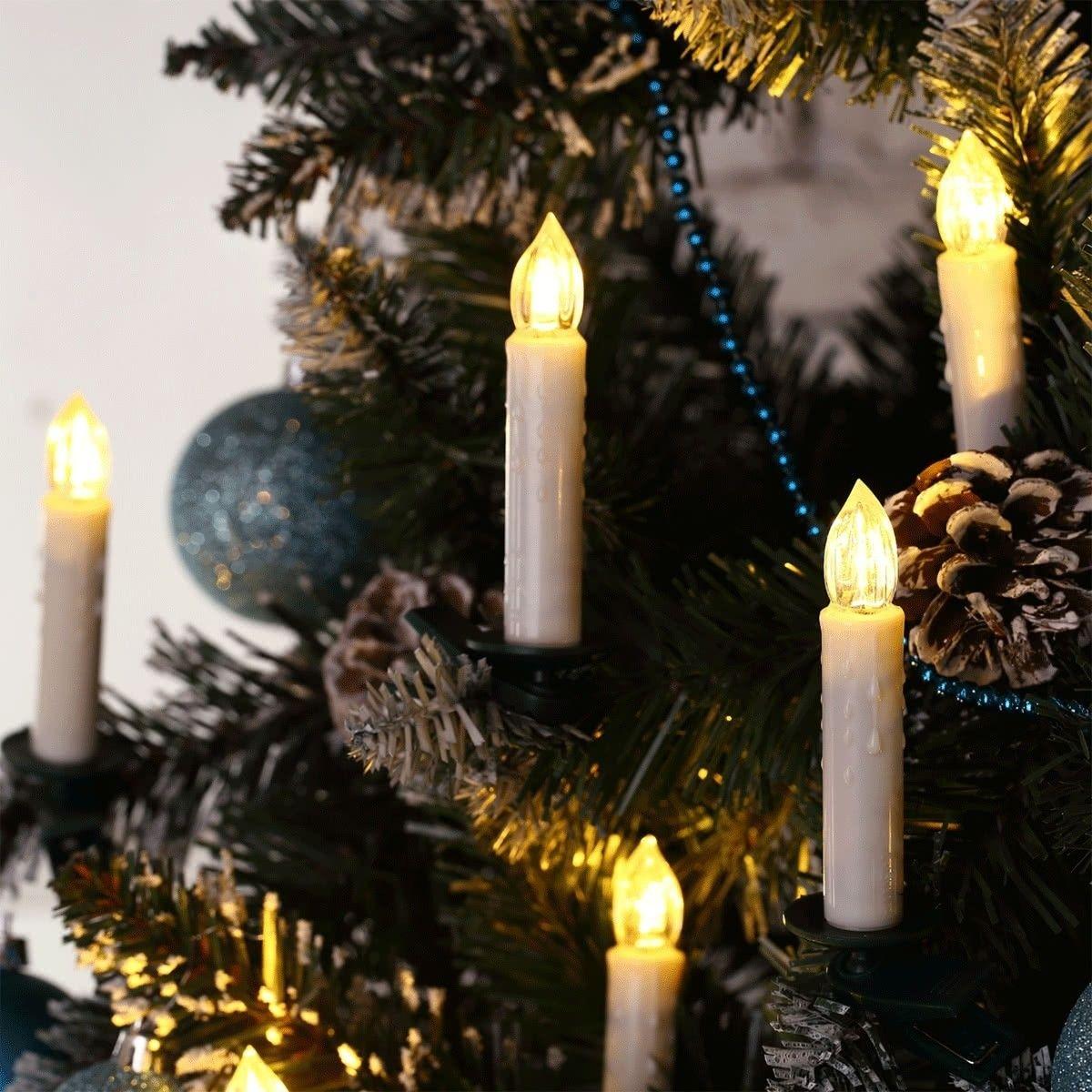 Kabellose Led Weihnachtskerzen Ip44 Wasserdicht Warmweiss Dimmbar