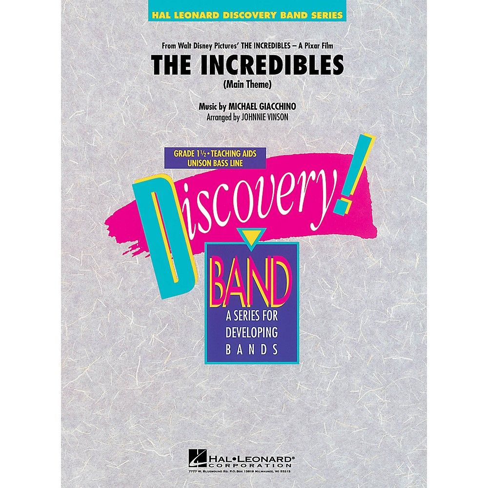 df210fdfbee Hal Leonard The Incredibles Concert Band Level 1.5 Arranged by Johnnie  Vinson