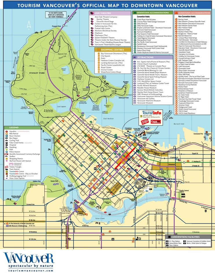 Vancouver tourist attractions map maps pinterest vancouver vancouver tourist attractions map publicscrutiny Image collections