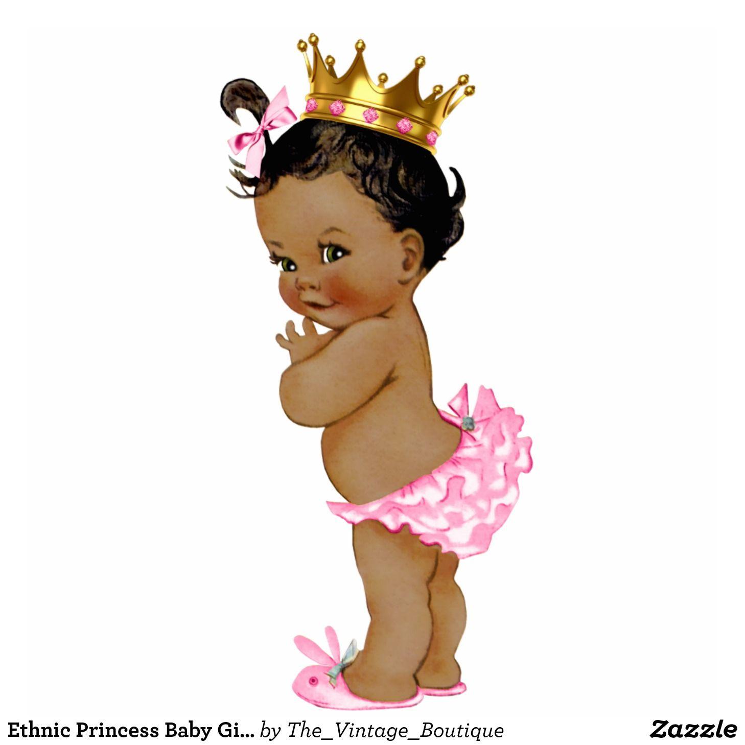 Ethnic Princess Baby Girl Shower Statuette