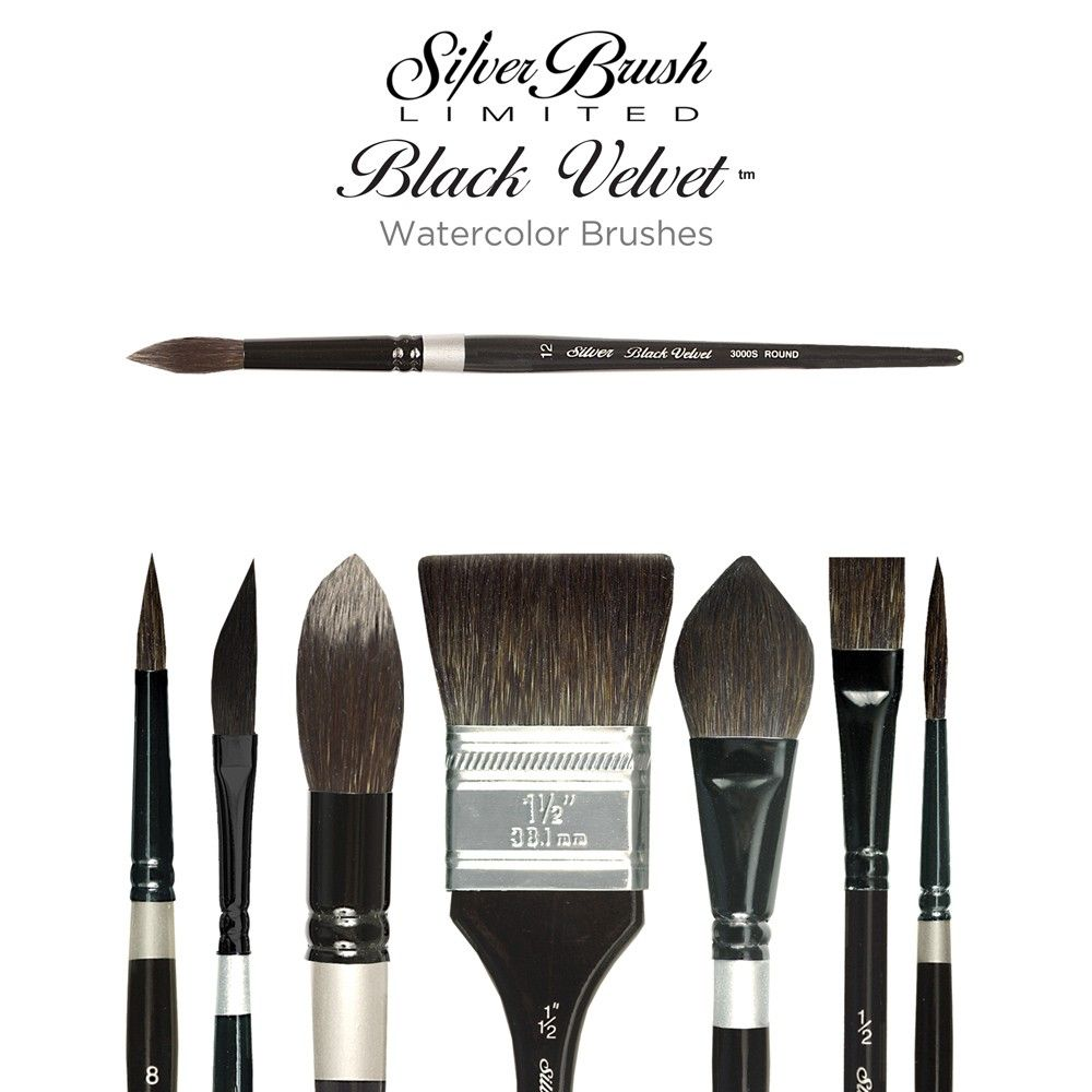 Silver Brush Black Velvet Watercolor Brushes Watercolor Brushes