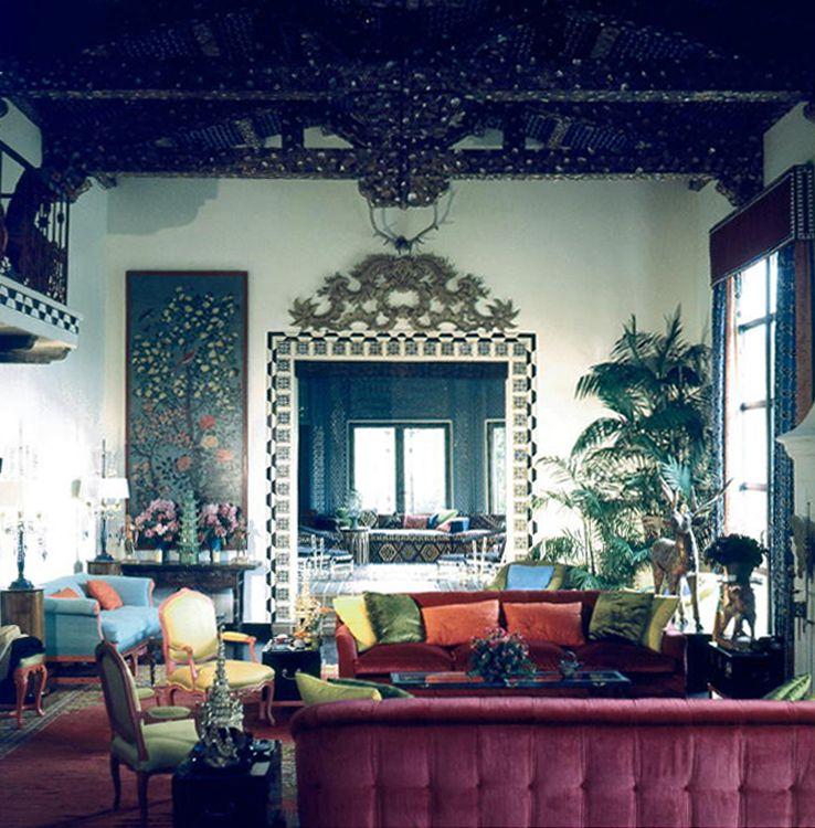 tony duquette interior design maximalism jewel tones