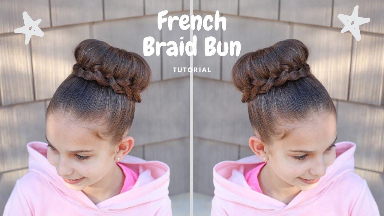 French Braid Bun Tutorial Youtube In 2020 Reverse French Braids French Braid Buns Braided Bun Tutorials