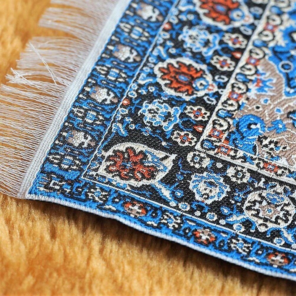 DOLLHOUSE RUG MINIATURE CARPET SMALL MINI FURNITURE TOY 4X6 1:12 PERSIAN BLUE