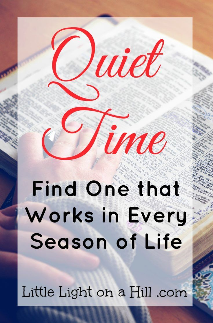 Finding a quiet time can be a challenge in such a busy world! How can we make something so important a priority in our every day lives?
