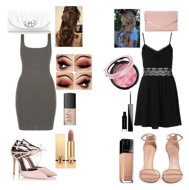 """""""Me and Kay's daughter at a party"""" by savannahtaylor950 on Polyvore featuring Topshop, Fratelli Karida, Stuart Weitzman, Kate Landry, Sasha, Yves Saint Laurent, NARS Cosmetics, Givenchy and Maybelline"""
