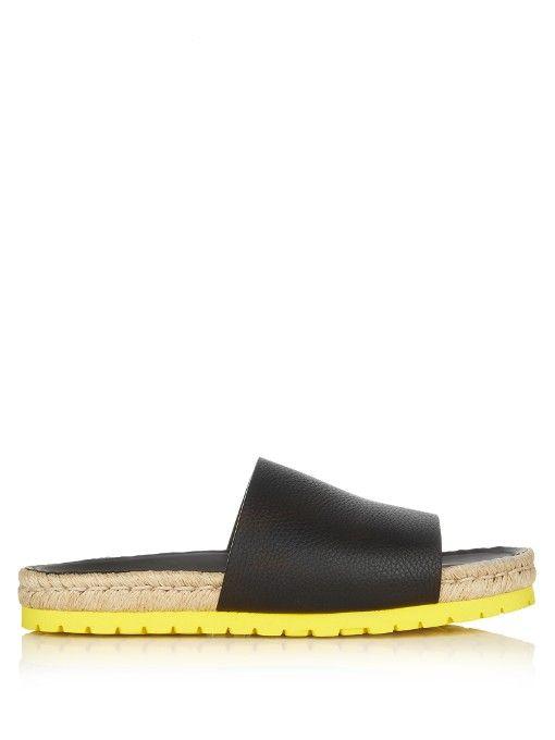 df20b84e7c5 BALENCIAGA Leather Espadrille Slides.  balenciaga  shoes  sandals ...