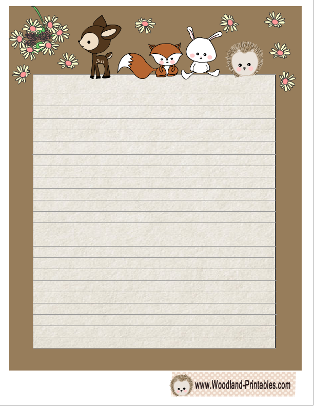 animal border paper
