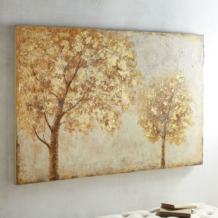 Pier 1 Imports Golden Trees Art   Tree art and Canvases