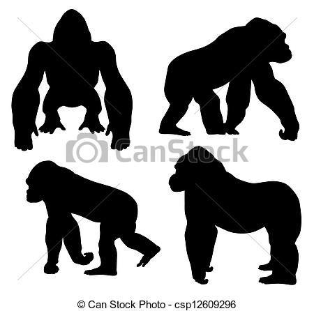 Gorilla Wild Jungle Animal Zoo Mylar Airbrush Painting Wall Art Crafts Stencil 3