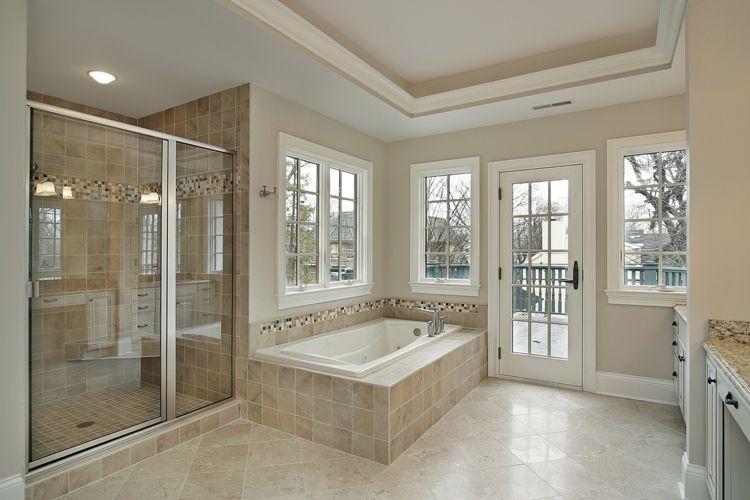 Im Badezimmer Fliesen mit Anstrich kombinieren Badezimmer