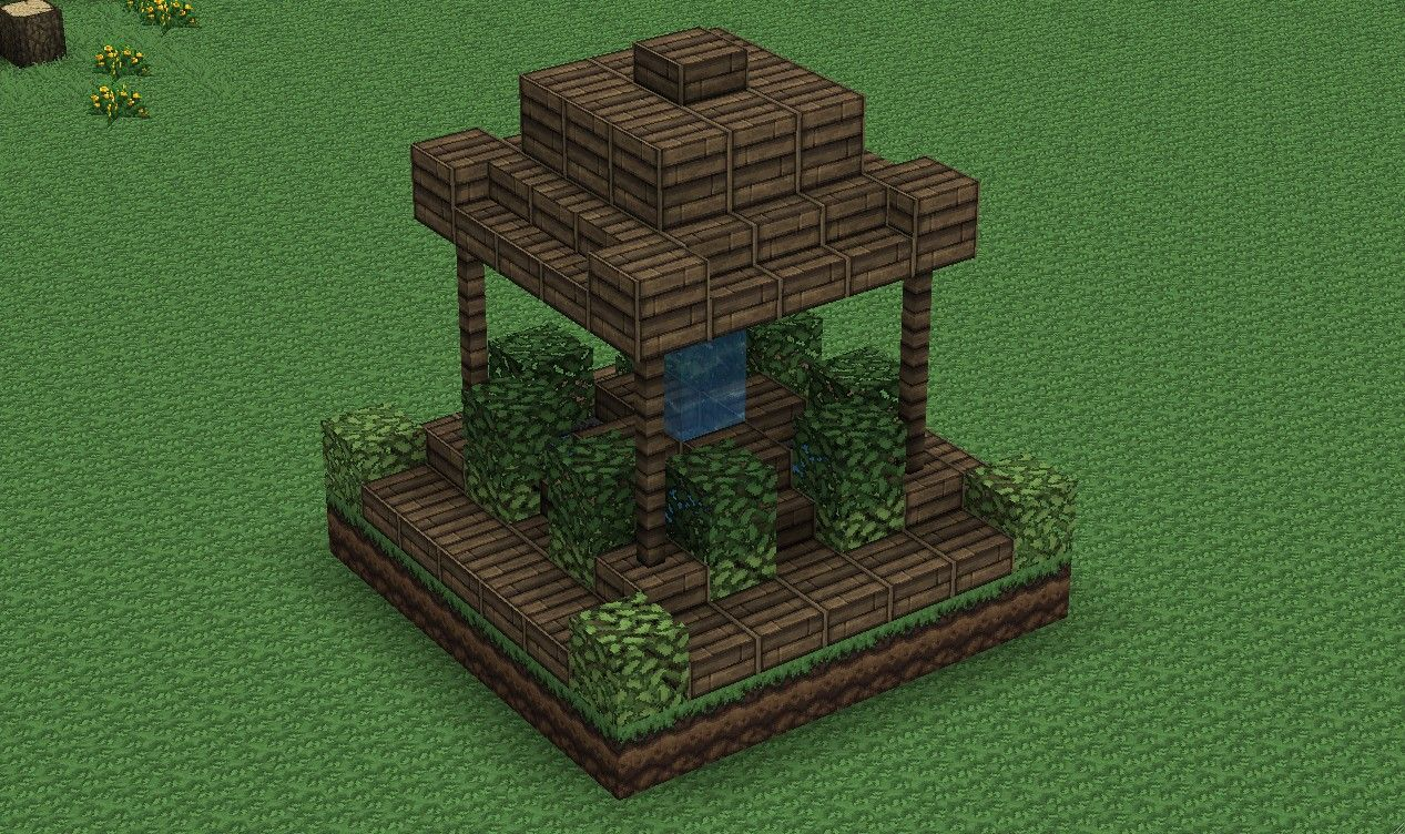 Small Wood Fountain Minecraft Map Minecraft Construction