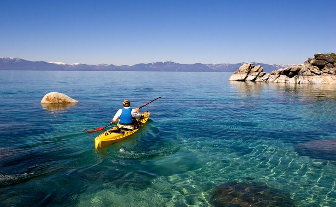 Image result for kayak lake tahoe